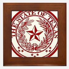 Cute Lone star state Framed Tile