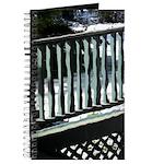 Porch Railing thru Old Glass Journal