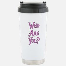 Who Are You? Alice in Wonderland Travel Mug
