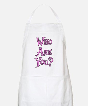Who Are You? Alice in Wonderland Apron