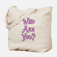 Who Are You? Alice in Wonderland Tote Bag