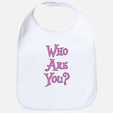 Who Are You? Alice in Wonderland Bib