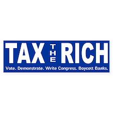 tax-rich-bumper Bumper Bumper Sticker