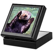 Waving Otter Keepsake Box