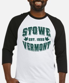 Stowe Old Style Vermont Green Baseball Jersey