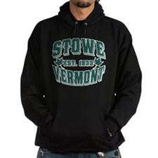 Stowe Old Style Vermont Green Hoodie
