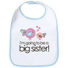 I'm Going to Be Big Sister Whimsy Bird Bib