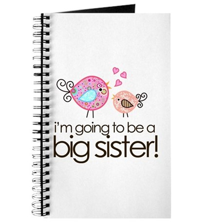 I'm Going to Be Big Sister Whimsy Bird Journal