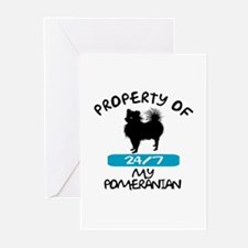 Pomeranian Greeting Cards (Pk of 10)