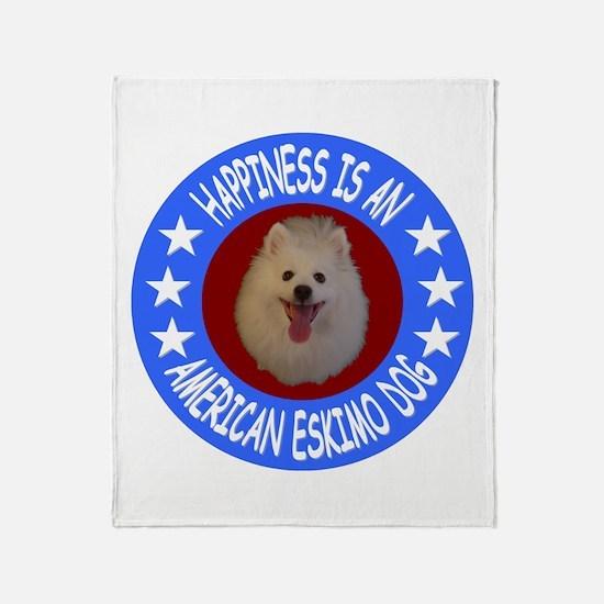 American Eskimo Dog Throw Blanket