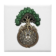 Ouroboros Tree Tile Coaster