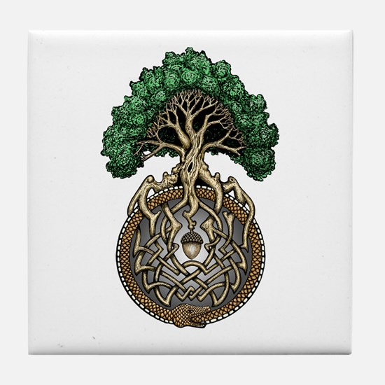 Ouroboros Tree Tile Coaster