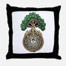 Ouroboros Tree Throw Pillow