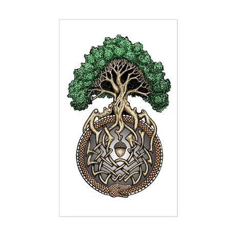 Ouroboros Tree Sticker (Rectangle)