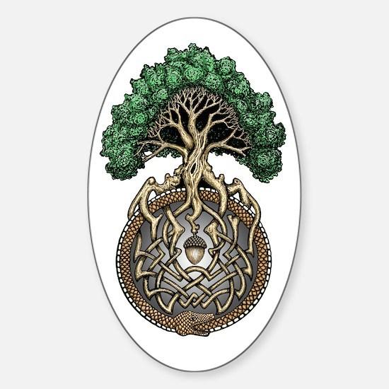 Ouroboros Tree Sticker (Oval)