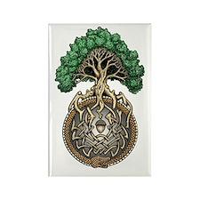 Ouroboros Tree Rectangle Magnet