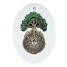 Ouroboros Tree Ornament (Oval)