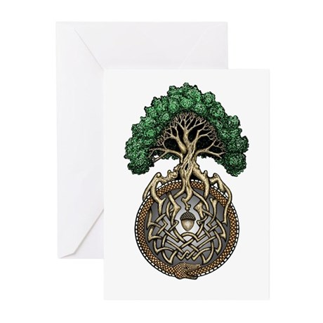 Ouroboros Tree Greeting Cards (Pk of 10)