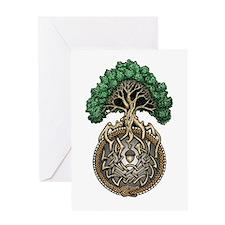 Ouroboros Tree Greeting Card