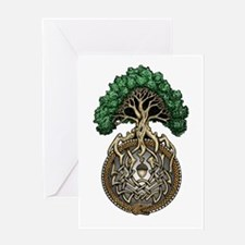 Ouroboros Tree Greeting Card