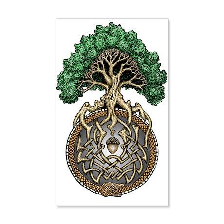Ouroboros Tree 38.5 x 24.5 Wall Peel