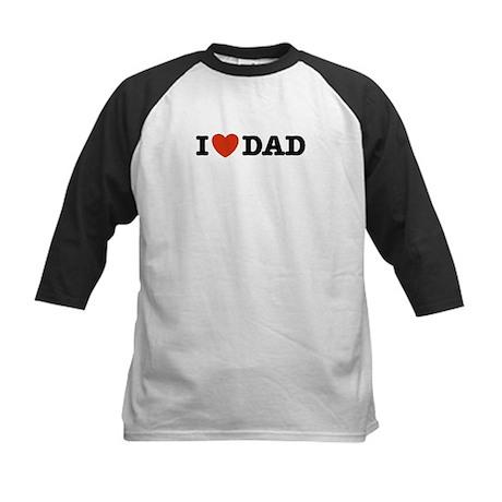 I Love Dad Kids Baseball Jersey