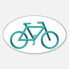 """""""Aqua Bike"""" Oval Decal"""
