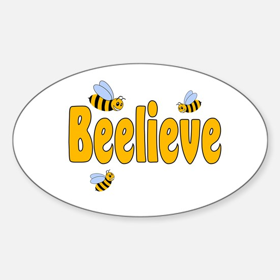 Beelieve Sticker (Oval)