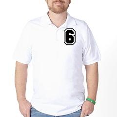 Varsity Uniform Number 6 T-Shirt