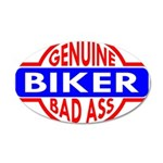 Genuine Biker BadAss 22x14 Oval Wall Peel