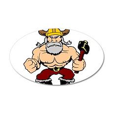 Mad Viking Berserker 22x14 Oval Wall Peel