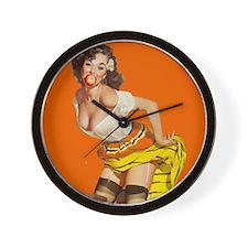 Sexy Italian Pinup Girl Wall Clock