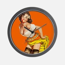 Sexy Italian Pinup Girl Wall Clock