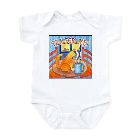 Tea for Me (Cat) Watercolor Infant Creeper