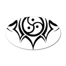 Tribal BDSM Symbol 22x14 Oval Wall Peel