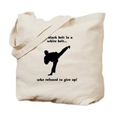 Black Belt Refusal Tote Bag