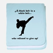 Black Belt Refusal baby blanket