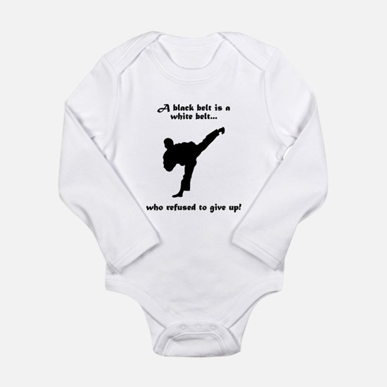 Black Belt Refusal Baby Suit