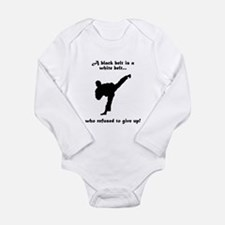 Black Belt Refusal Long Sleeve Infant Bodysuit