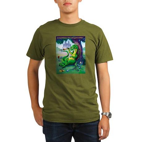 Sometimes the Dragon Wins Organic Men's T-Shirt (d