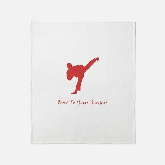 Bow To Your Sensei! Throw Blanket
