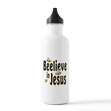 Beelieve in Jesus - Black Let Water Bottle