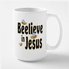 Beelieve in Jesus - Black Let Mug