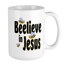 Beelieve in Jesus - Black Let Mug