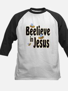 Beelieve in Jesus - Black Let Tee