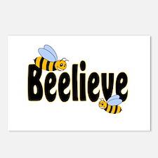 Beelieve in Black Postcards (Package of 8)