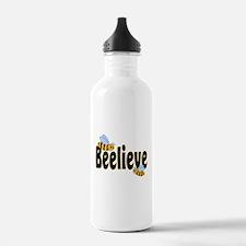 Beelieve in Black Water Bottle