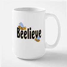 Beelieve in Black Large Mug