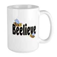 Beelieve in Black Mug