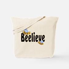 Beelieve in Black Tote Bag